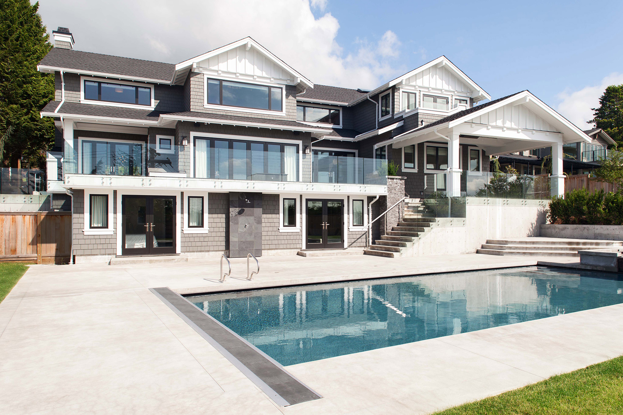 Eyremont west vancouver architect craftsman house pool for Pool design vancouver
